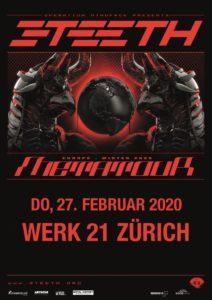 3teeth - Werk 21 Zürich 2020 (Plakat)