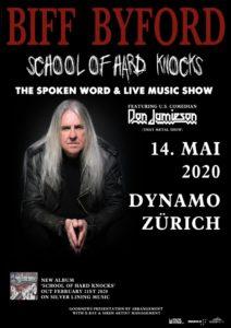 Biff Byford - Dynamo Zürich 2020 (Plakat)