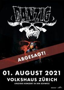 Danzig - Volkshaus Zürich 2021 - abgesagt