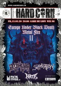 HardCorn - Suffocation - Gare de Lion 2020 (Plakat)