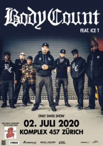 Body Count feat. Ice T - Komplex 457 Zürich 2020 (Plakat)