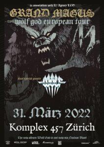 Grand Magus - Komplex 457 Zürich 2022 (Plakat)