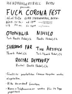 Fuck Corona Fest - Sternensall Bern 2020