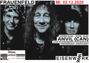 Anvil - Eisenwerk Frauenfeld 2020 (neues Datum)